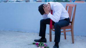 broken hearted man after rejection