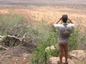 Ruan looking out over Kruger Park