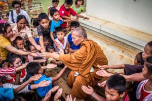 monk serving humanity