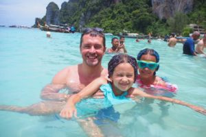 Ruan and Girls on Phi Phi Island