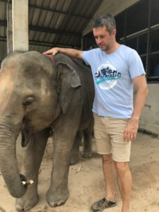 Ruan with Elephant Chaing Mai