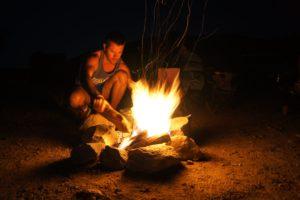 Ruan at bush fire