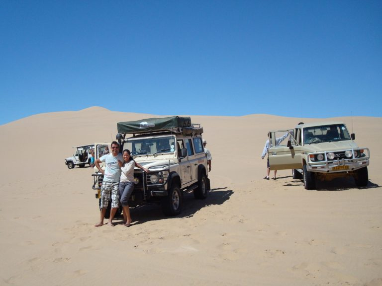 Ruan and Mitzi in Namibia
